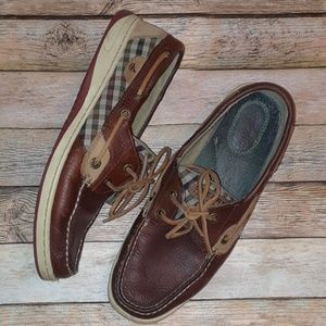 Sperry Top-Sider Bluefish Tan Oilcloth Boat Shoes